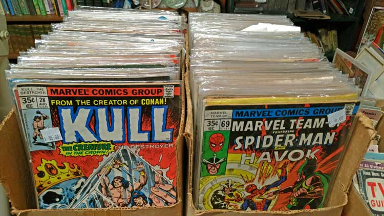 Collectible Comics Books at Bahoukas Antique Mall in Havre de Grace
