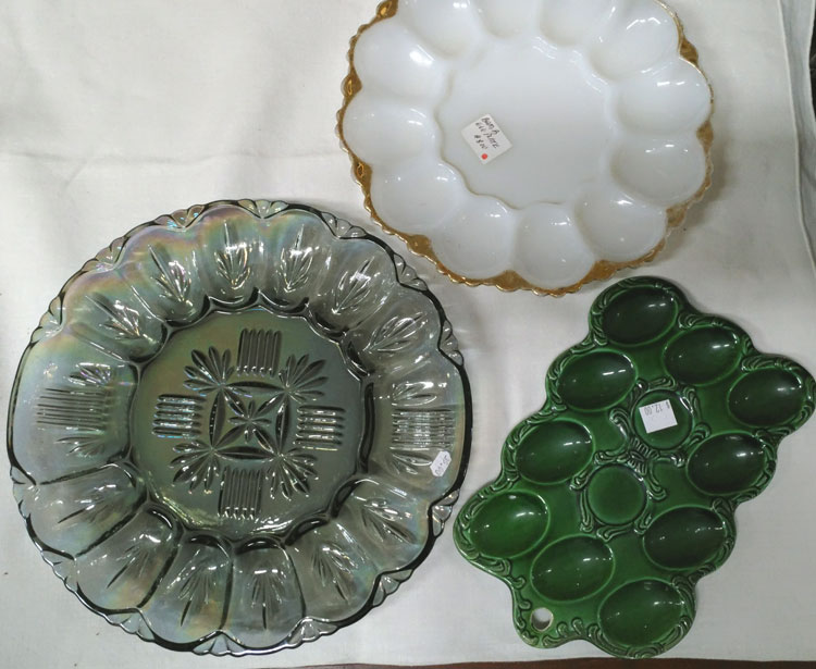beautiful egg plates just in time for Easter