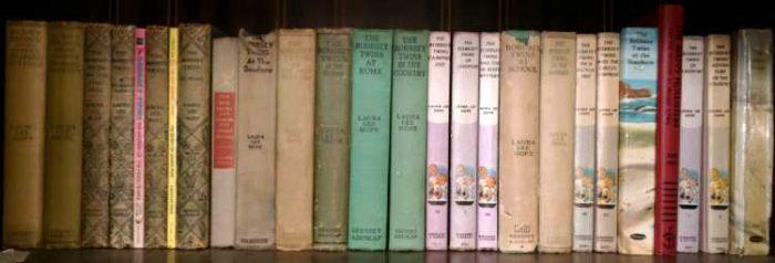 A shelf of Bobbsy Twins Books at Bahoukas in Havre de Grace