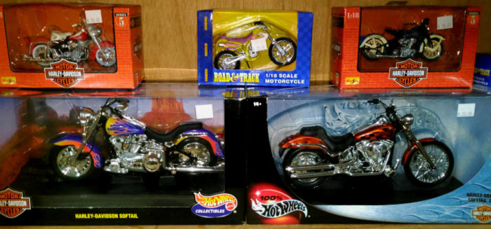 Motorcycle models at Bahoukas Antique Mall