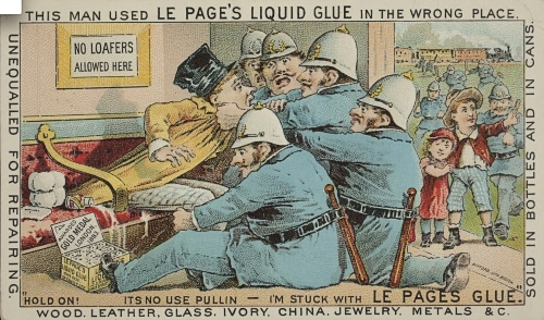 Advertising from 1880 for LePage's Glue