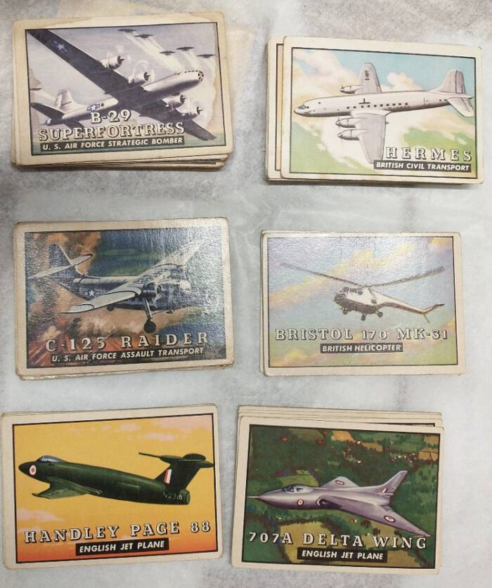 TOPPS non-sports collector trading cards - WINGS from the 1950s