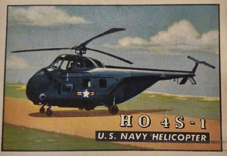 U.S. Navy Helicopter trading card from TOPPS Wings Series of the 1950s