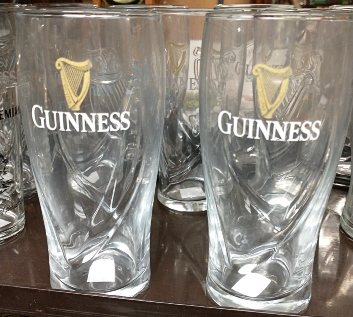 Guinness beer glasses
