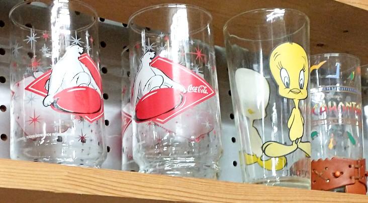 Character Glasses - Coca Cola Panda and Tweety Bird