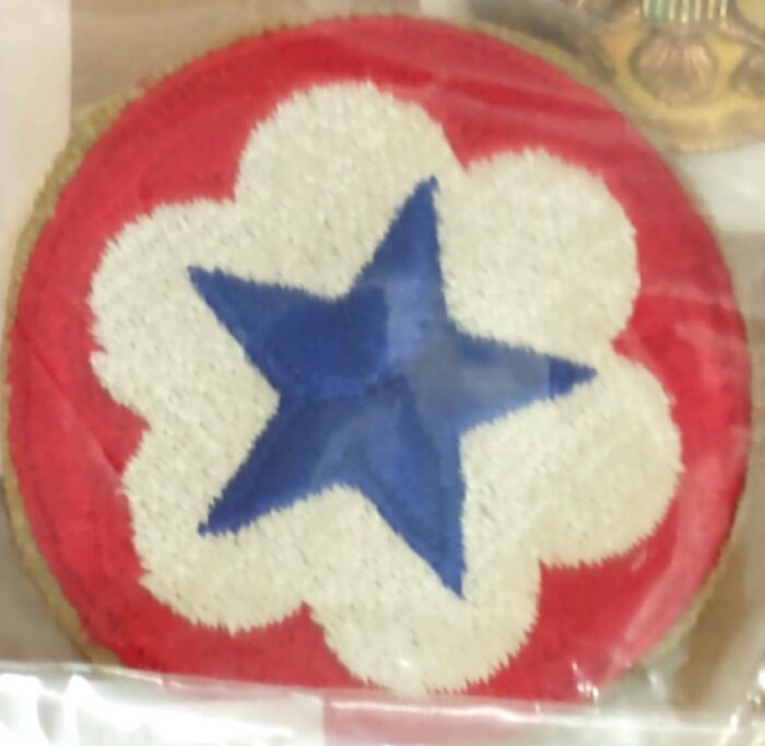 Unit Patch - blue star on white with red border - we have many more here at Bahoukas