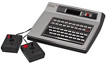 Picture of Odyssey 2 game controllers and keyboard from Wikipedia
