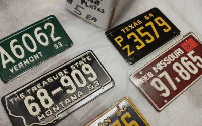 Mini-Cardboard or Metal License Plates