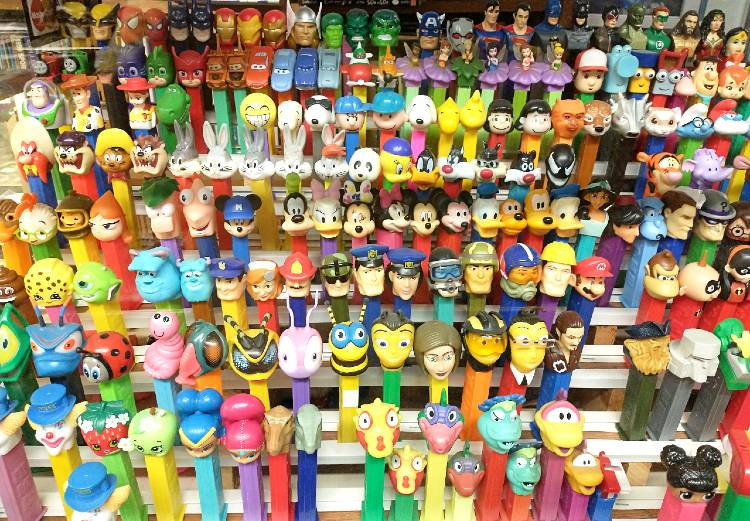 PEZ collection at Bahoukas