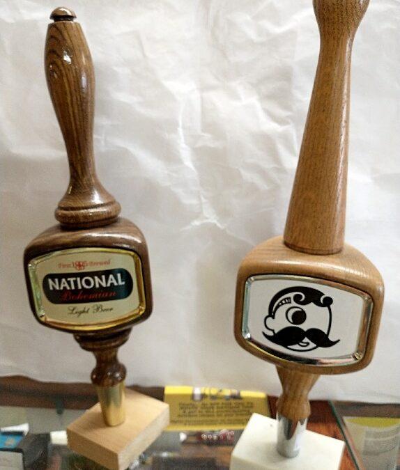 Natty Boh beer tap handles - very collectible - at Bahoukas in Havre de Grace