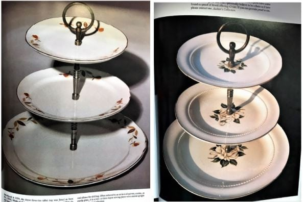 Autumn Leaves and Cameo Rose dishware patterns made by Hall China Co. for the Jewel Tea Co.