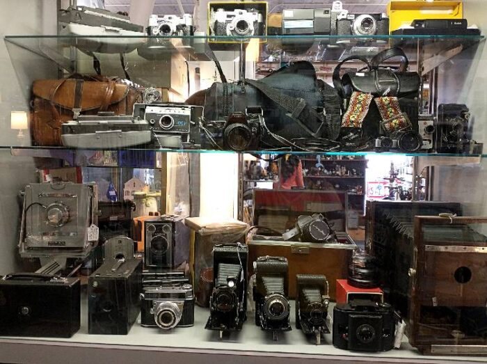 Vintage cameras available at Bahoukas Antiques