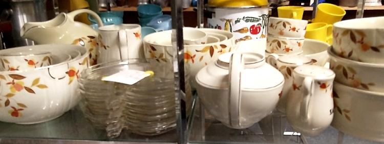Autumn Leaves Hall Dishware made for Jewel Tea Co.