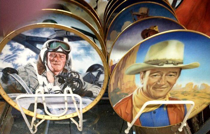 a number of John Wayne Collector Plates
