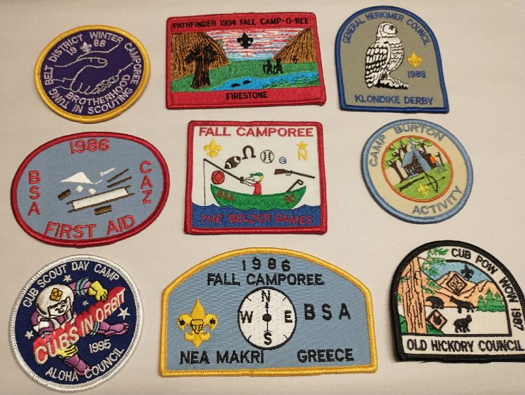 Large collection of Boy Scout Patches at Bahoukas Antique Mall
