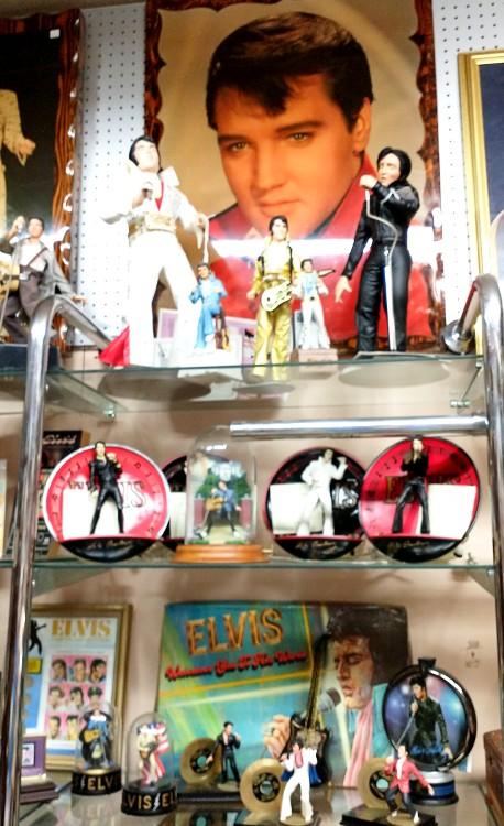 Elvis Memorabilia has it's very own section at Bahoukas in Havre de Grace