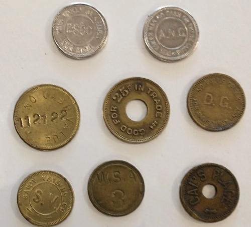 Vintage game tokens
