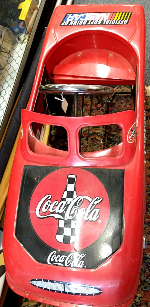 Coca Cola teams up with Nascar and this pedal car is just awesome!