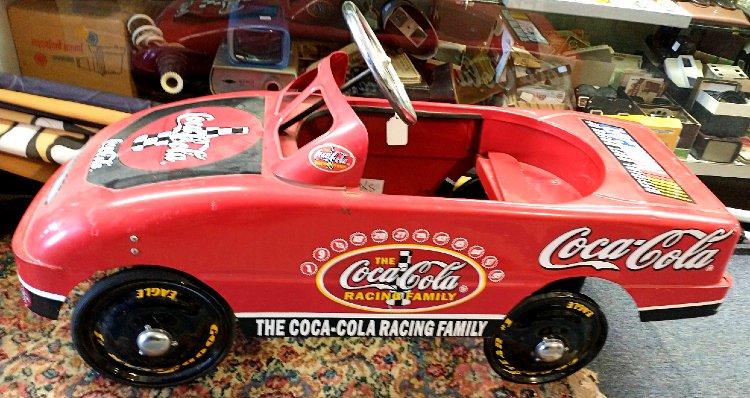 excellent condition Nascar - Coca Cola pedal car at Bahoukas
