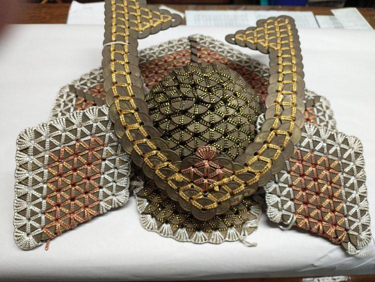 Japanese Samurai Helmet made of five-yen coins