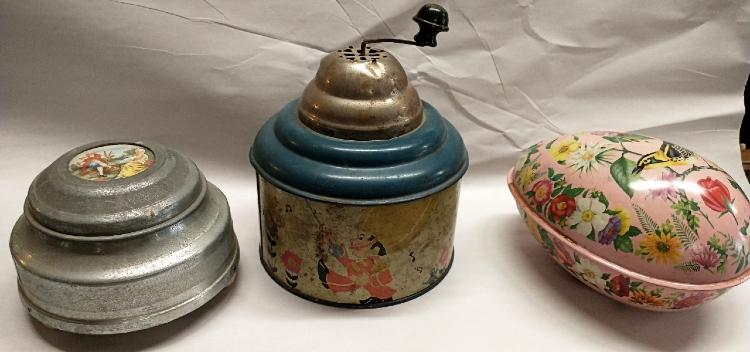 3 hand-cranked vintage music boxes at Bahoukas Antiques